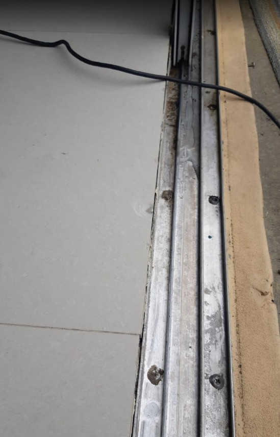 sliding door track repair